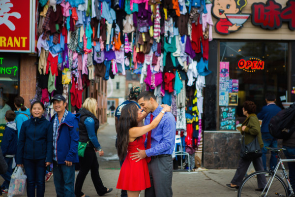 Vipul + Gurpreet's Chinatown Engagement Shoot